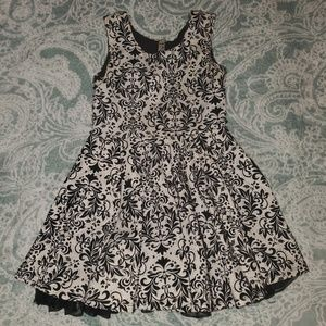 Girls black white and silver Beauties dress 10